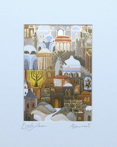 Monuments signed print