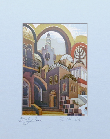 The old city signed print
