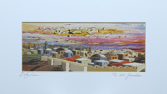 The new Jerusalem special signed print