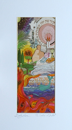 The Creation and Shabbat special signed print