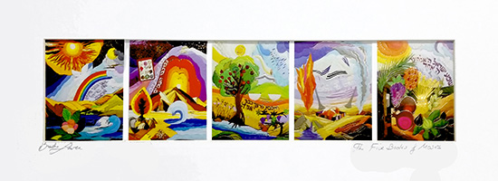 The five books of Moses special signed print