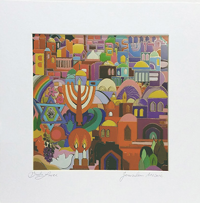 Jerusalem mosaic special signed print