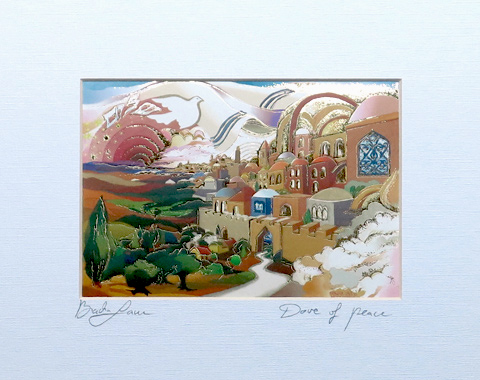 Dove of peace signed print