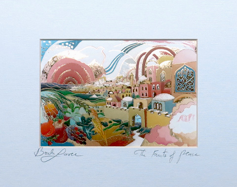 Fruits of peace signed print