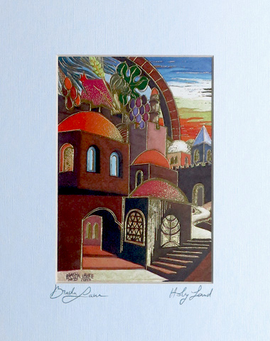 Holy land signed print