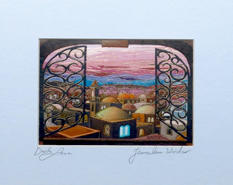 Jerusalem Window signed print