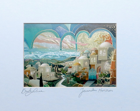 Jerusalem horizon signed print