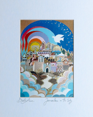 Jerusalem in the sky signed print