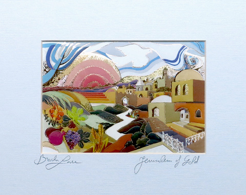 Jerusalem of gold signed print