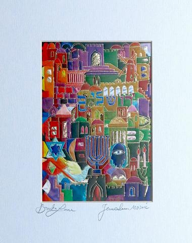 Mosaic signed print