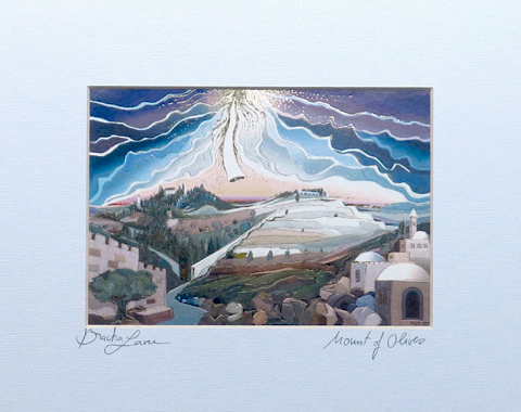 Mount of olives signed print
