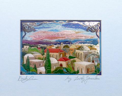 My lovely Jerusalem signed print