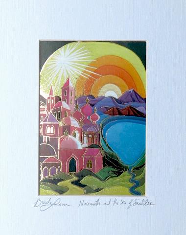 Nazareth and sea of galilee signed print