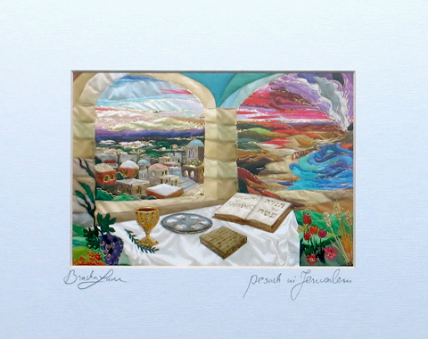 Passover in Jerusalem signed print