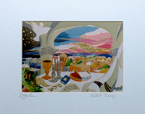 Shabbat Evening signed print