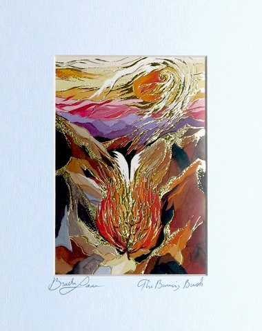 The burning bush signed print