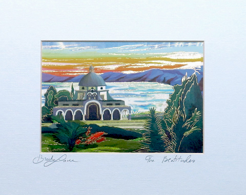 The church of Beatitudes signed print