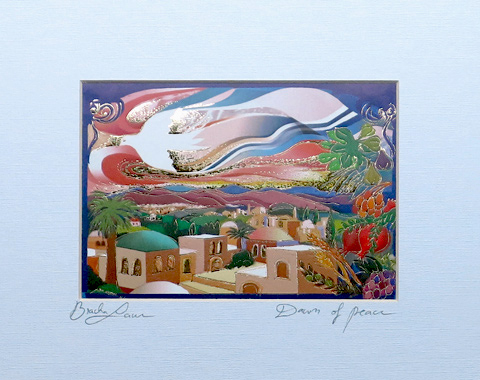 The dawn of peace signed print