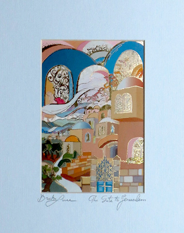 The gate to Jerusalem signed print
