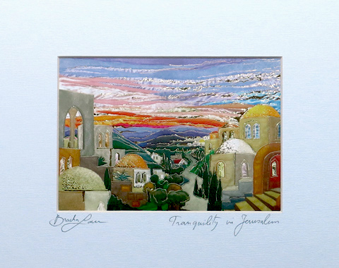 Tranquility in Jerusalem signed print
