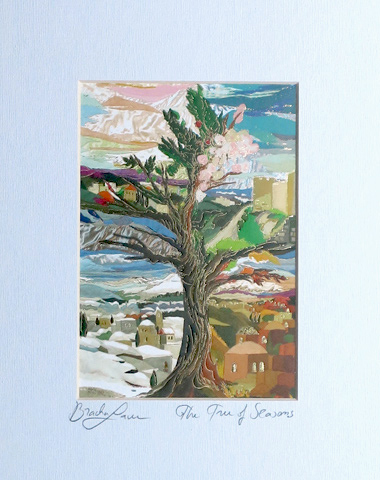 Tree of seasons signed print