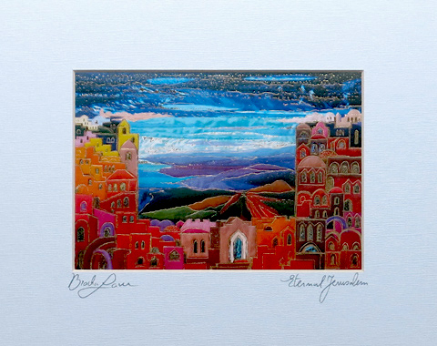 eternal Jerusalem signed print