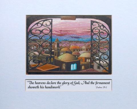 Jerusalem Window signed print