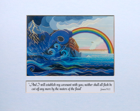 The end of the flood signed print