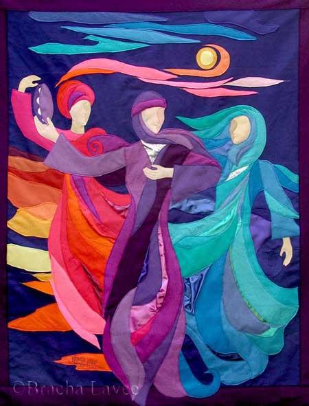 Dancing Miriam original tapestry