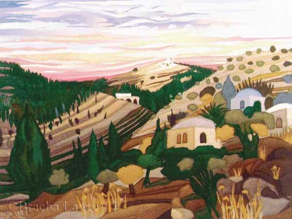 Jerusalem mountains original tapestry