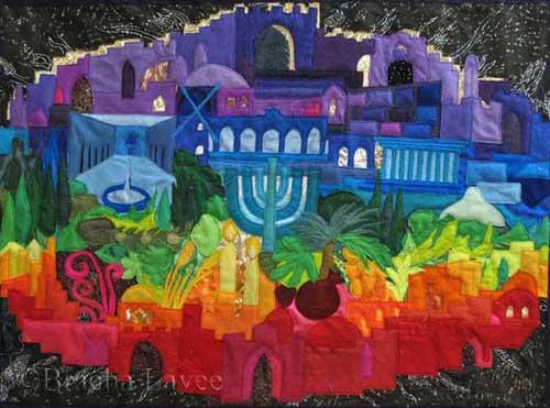 Jerusalem of light original tapestry