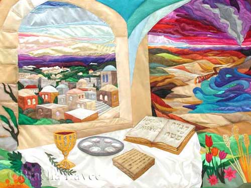 Passover in Jerusalem original tapestry