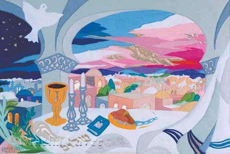 Shabbat Evening original tapestry