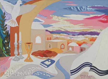 Shabbat Shalom original tapestry