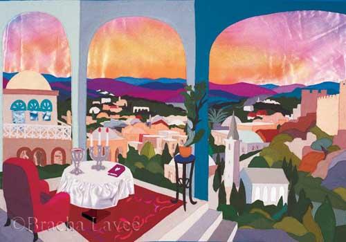 Shabbat table original tapestry