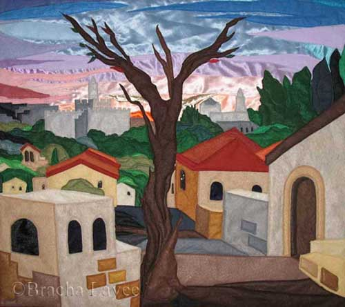 Sunrise in Jerusalem original tapestry