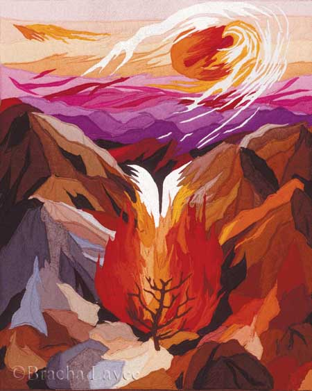 The burning bush original tapestry