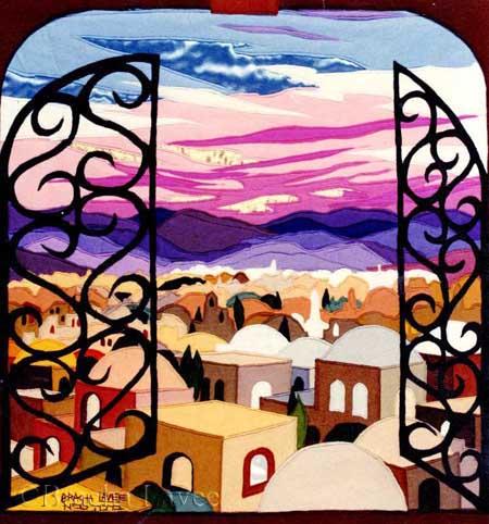 Window to Zion original tapestry
