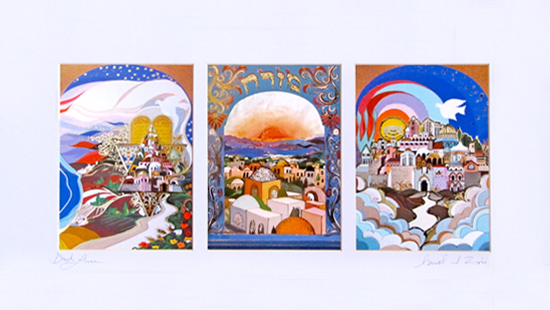 Holy land triptych special signed print