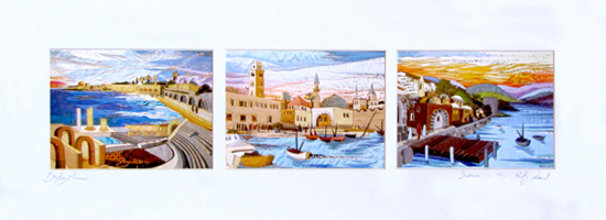 Israel horizontal special signed print