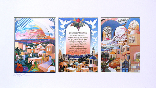 Peace triptych special signed print